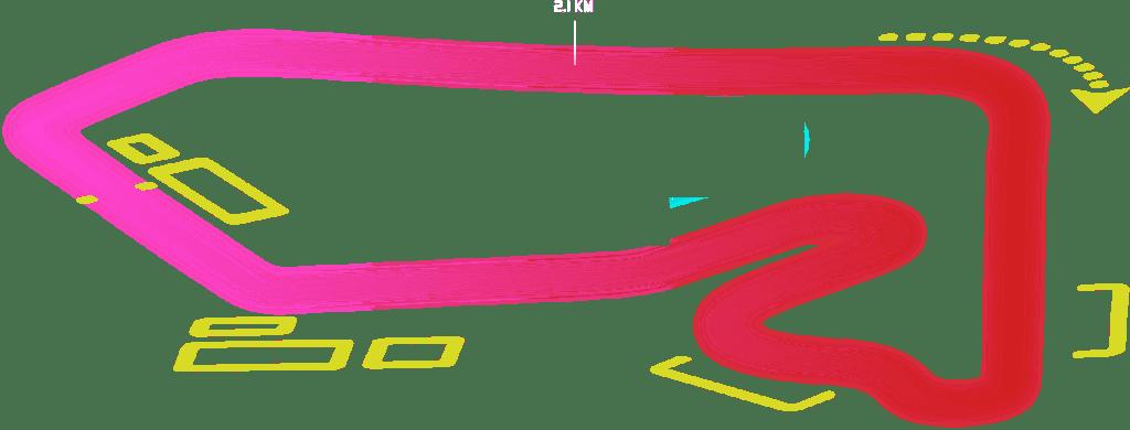 מוטורסיטי - מסלול מרוצים, מפת המסלול מרוצים